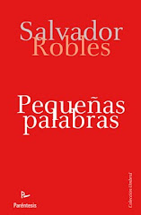 """""""PEQUEÑAS PALABRAS"""", MICRORRELATOS DE SALVADOR ROBLES, 2010"""