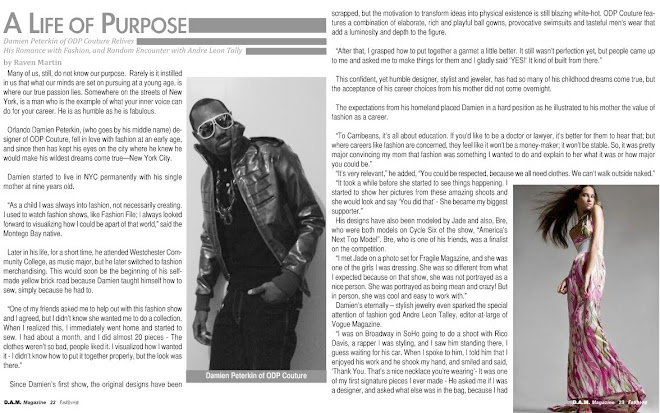 D.A.M Magazine Article on O.D.P