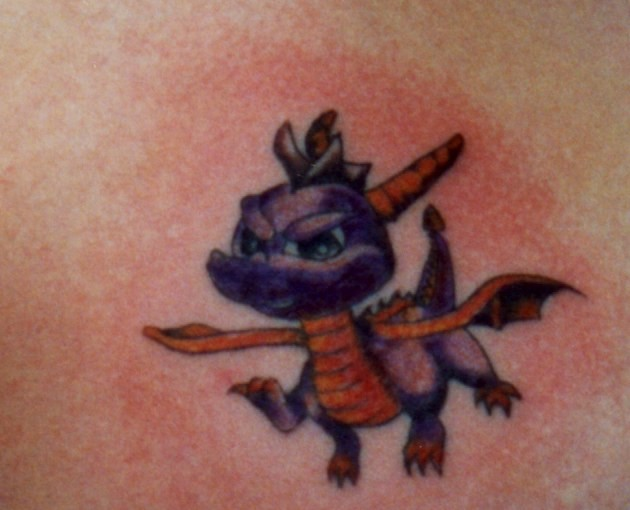 dragon tattoo on his arm