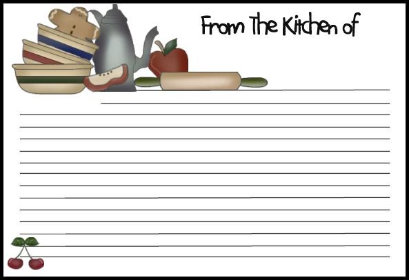 online recipe template
