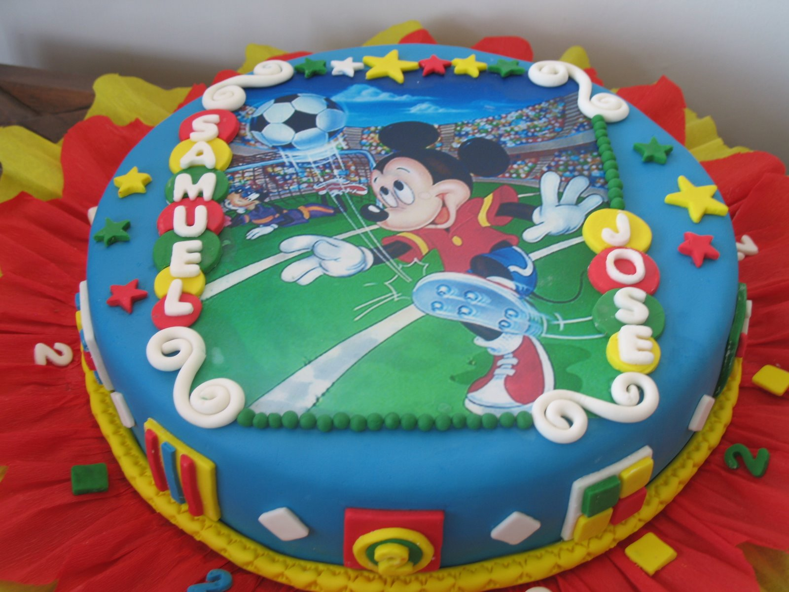 Delicias Caseras: Torta de cumpleaños - Mickey Mouse