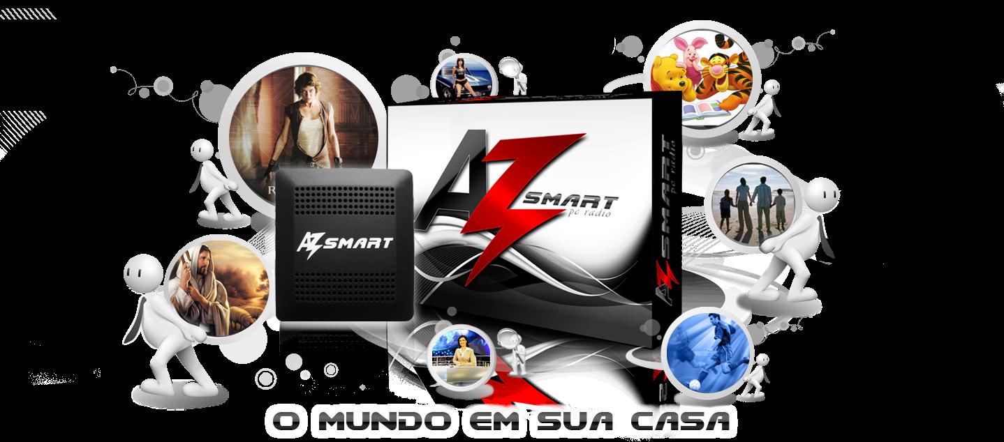 AZ Smart é um adaptador externo conectado a uma antena Banda KU ...