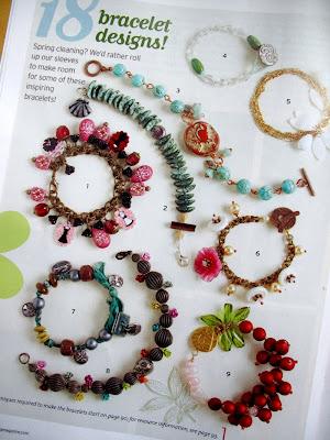 spring stringing magazine jewelry bracelets beading charms