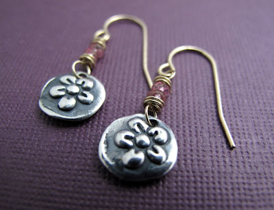 silver plum blossom charm earrings jewelry