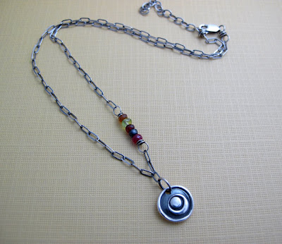 silver eclipse charm necklace moon