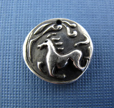 silver running horse charm hint jewelry