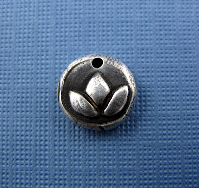 silver lotus blossom charm yoga inspired jewelry