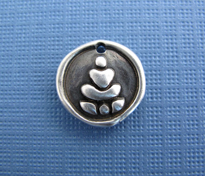 handcrafted silver Buddha charm yoga inspired jewelry