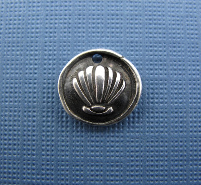 silver shell charm hint jewelry