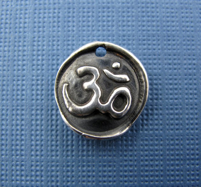 silver om charm yoga inspired jewelry