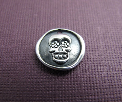 silver day of the dead skull charm hint jewelry