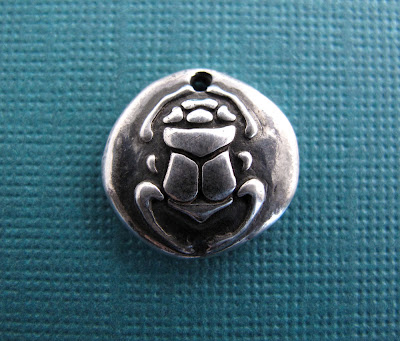 silver egyptian scarab charm hint jewelry