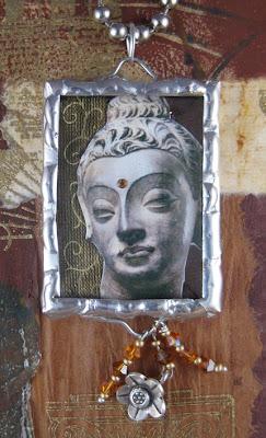 soldered pendant buddha