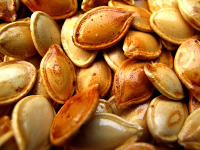 fall toasted pumpkin seeds photo