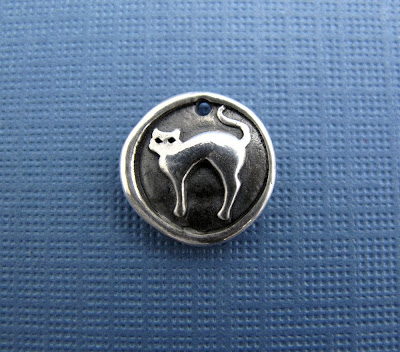 silver cat charm hint jewelry