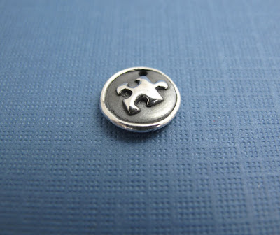silver puzzle piece autism charm jewelry