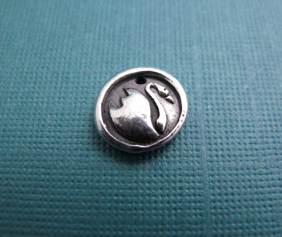 silver romantic bird swan charm jewelry