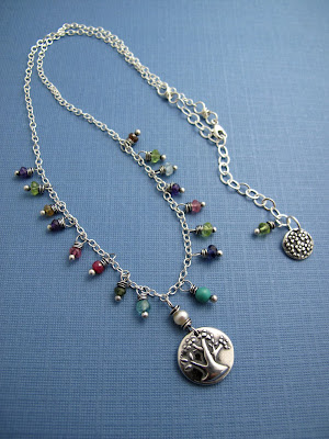 silver tree of life necklace charm