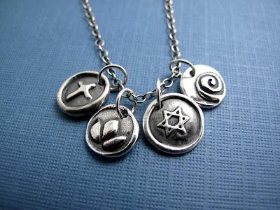 silver charm new year necklace bracelet jewelry