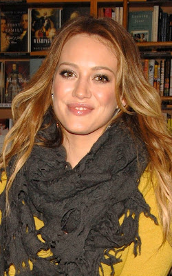 Hilary Duff at a World AIDS Day
