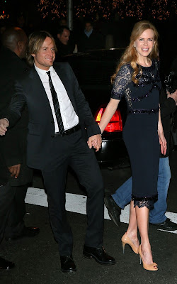 Nicole Kidman with Keith Urban at the NYC premiere of