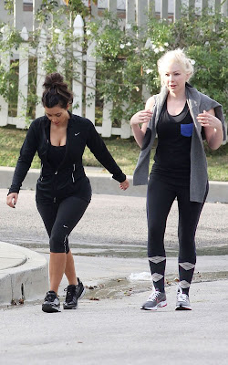 Kim Kardashian out for a jog Pics
