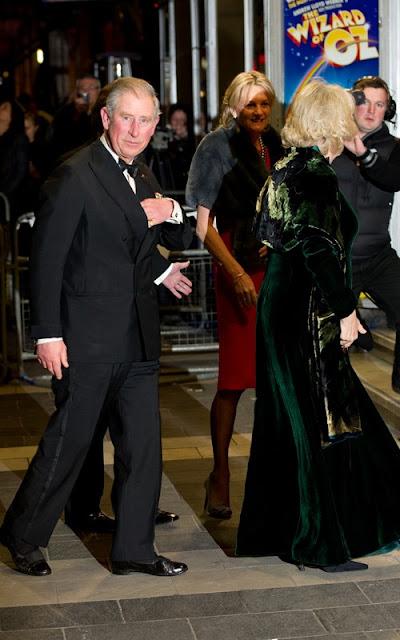 Prince Charles and Camilla at the Royal Variety Show Pics