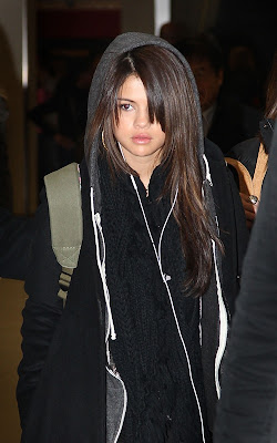 Selena Gomez arriving into JFK Airport in New York City