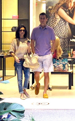 Kourtney Kardashian and Scott Disick at the Bal Harbour shops on Miami Beach