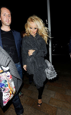 Pamela Anderson out in Liverpool