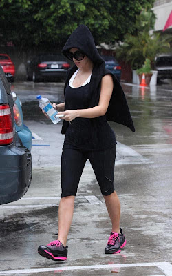 Kim Kardashian out for a workout in Beverly Hills