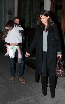 Tom Cruise and Katie Holmes out with Suri in NYC