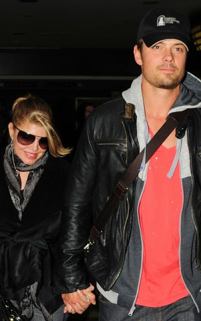 Fergie and Josh Duhamel arriving at LAX Airport