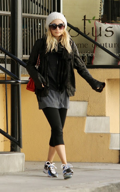 Nicole Richie out for a post-holiday workout