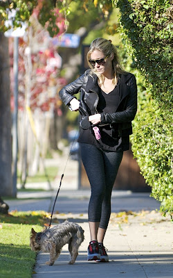 Kristin Cavallari out for a dog walk in LA