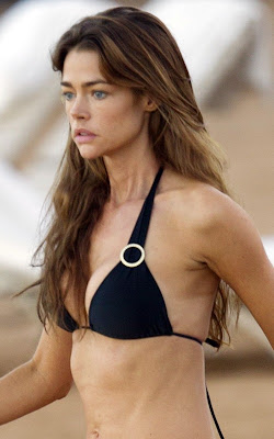 Denise Richards on the beach in Hawaii