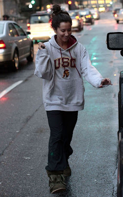Ashley Tisdale leaving the gym in Vancouver