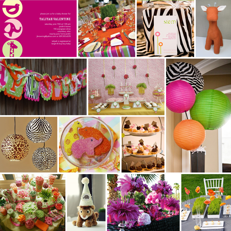 CAKE Creative Co.: Custom Inspiration Board: Zoo Gone Girly