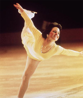 wedge hairstyle immortalized by Olympic pedestal girl Dorothy Hamill