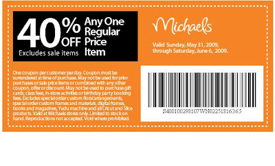 Michaels Printable Coupon 2013
