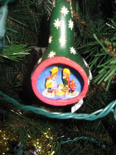 Nativity Scene in a Gourd