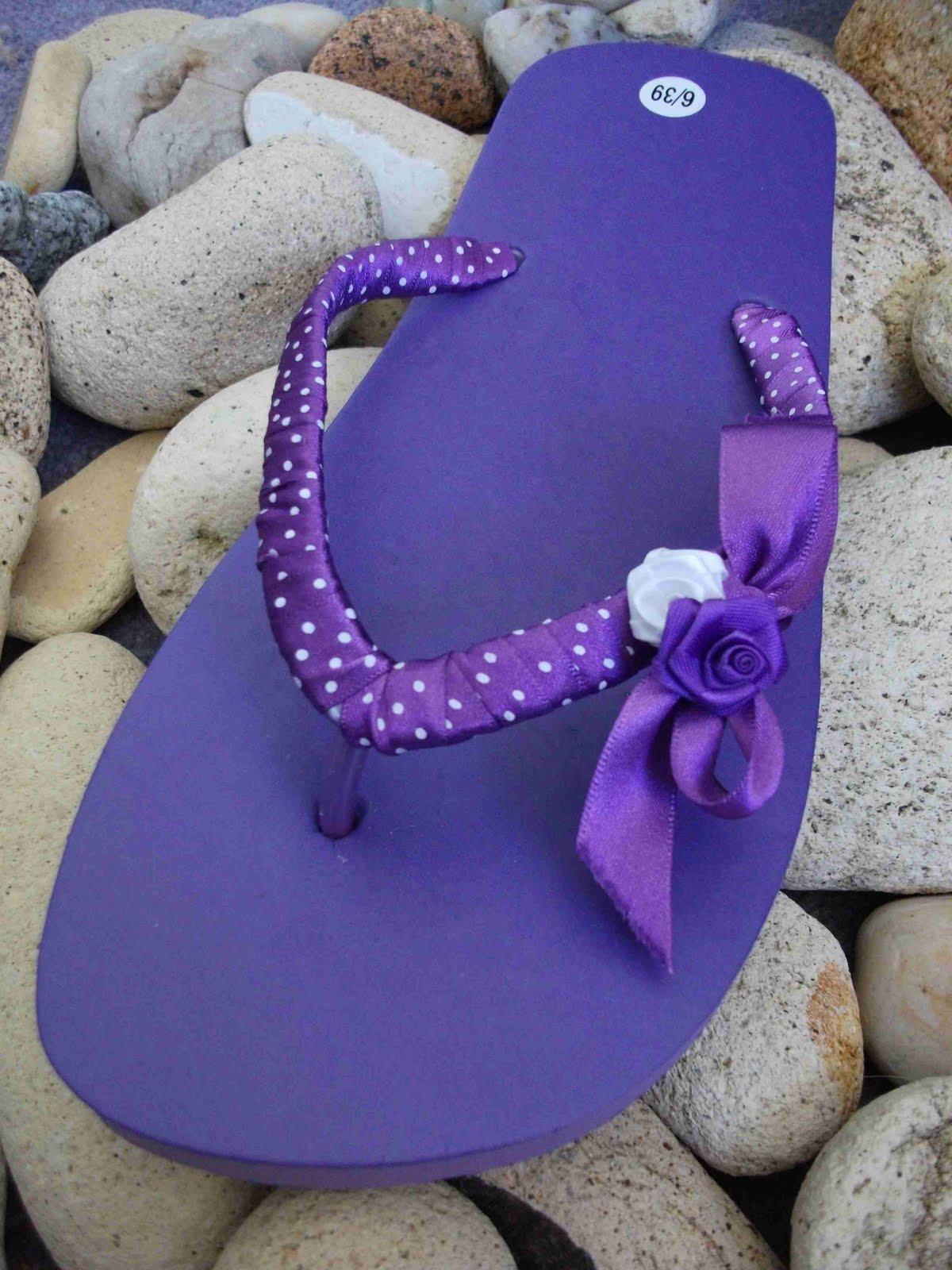 Margarete arts crafts summer decorated flip flops for Flip flops for crafts