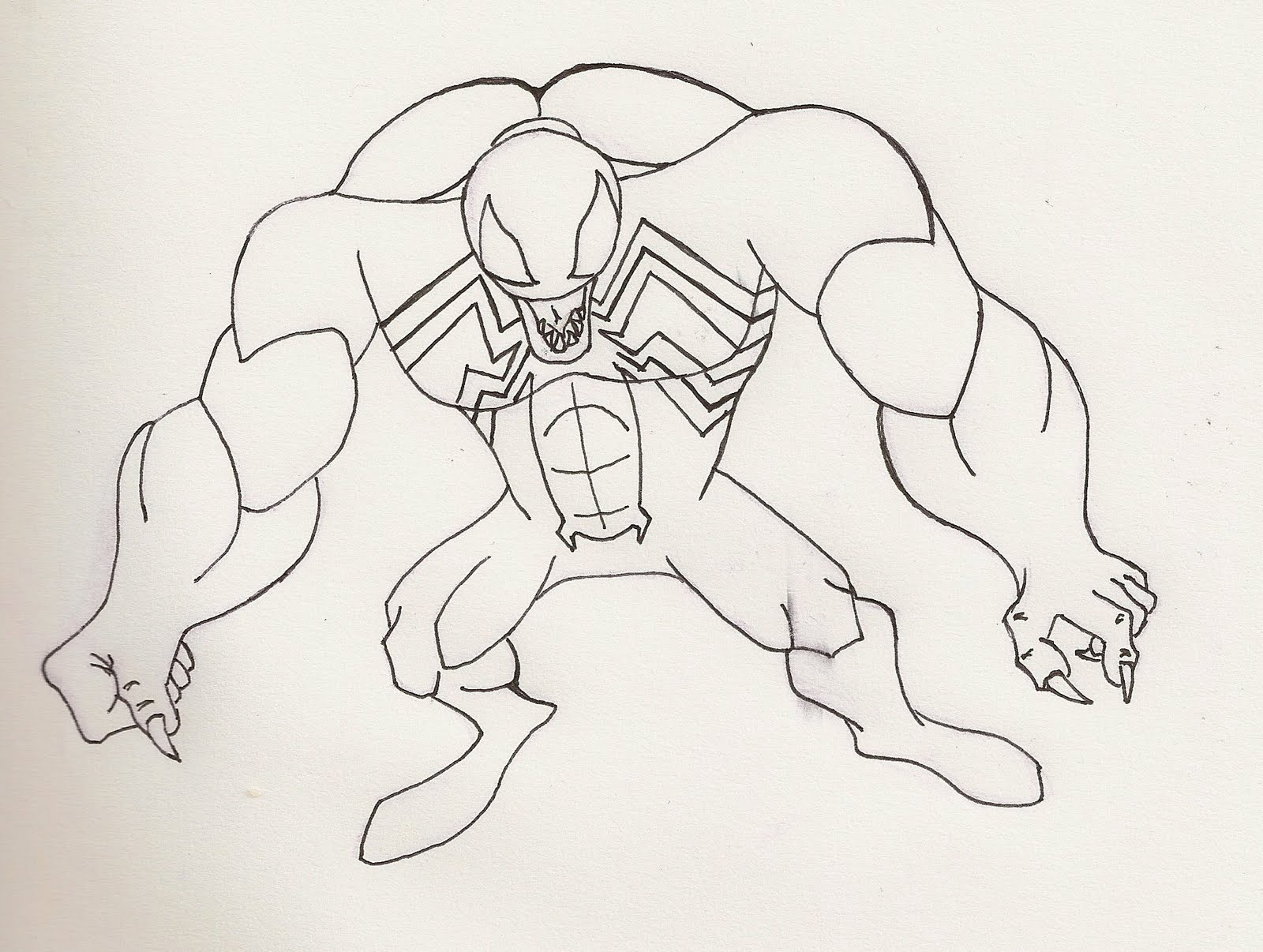 Got Venom inked tonight. Hope to work on coloring him either tonight ...