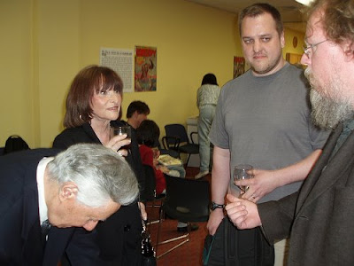 ... me this pic from an appearance Jim Warren did at Abington Free Library ...
