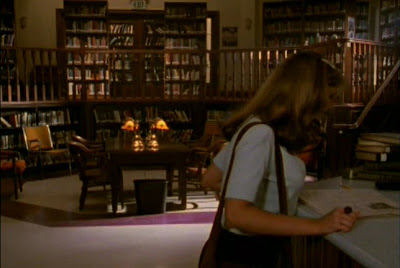 Buffy in the Sunnydale High Library