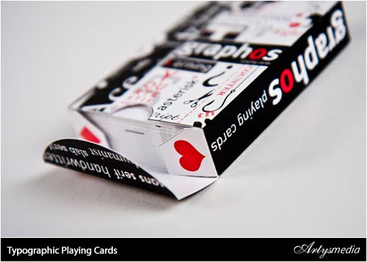 Typographic Playing Cards