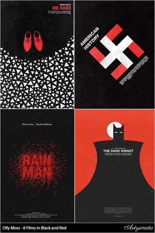 Olly Moss - 8 Films in Black and Red