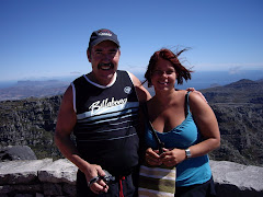 Jag och papsen p Table Mountain