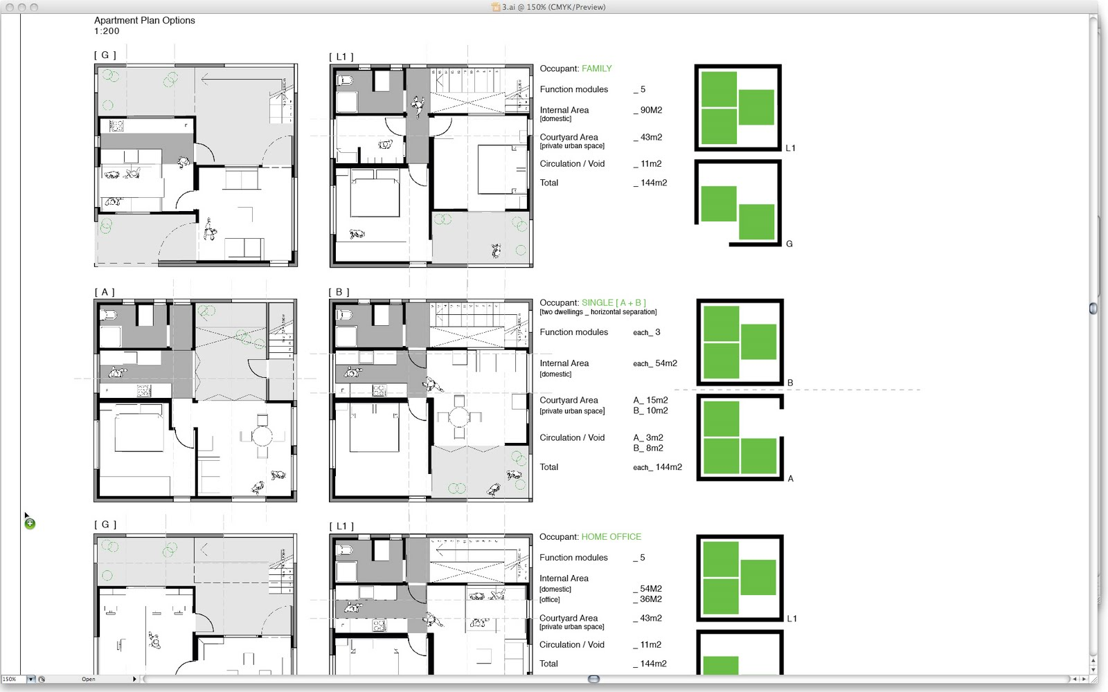 12 weeks 1 design 049 modular apartment plans for Apartment design examples