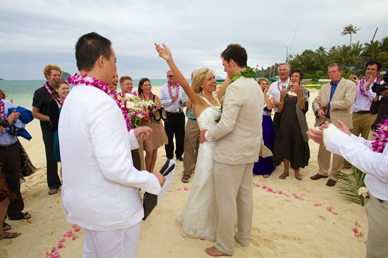 Lanikai Beach Wedding Tim Melissa